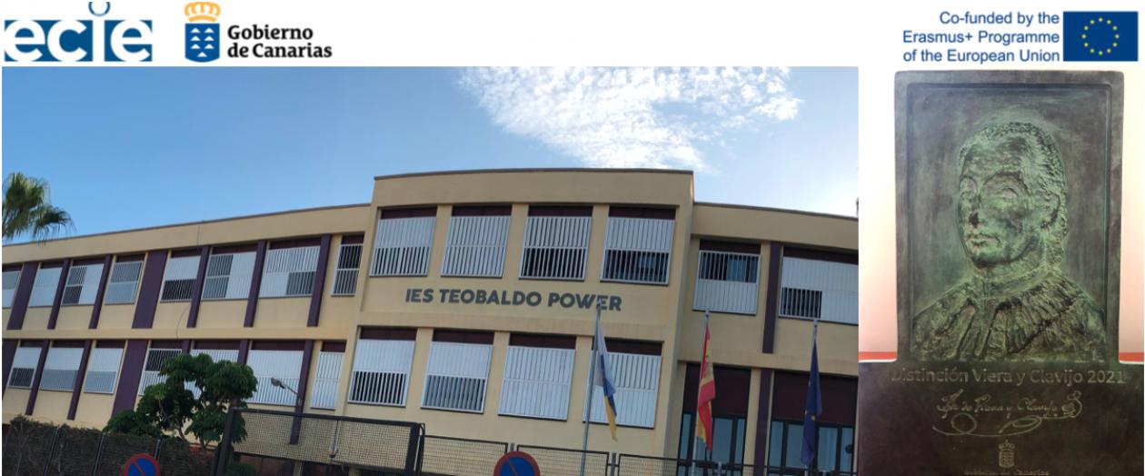 IES TEOBALDO POWER  – Distinción Viera y Clavijo 2021
